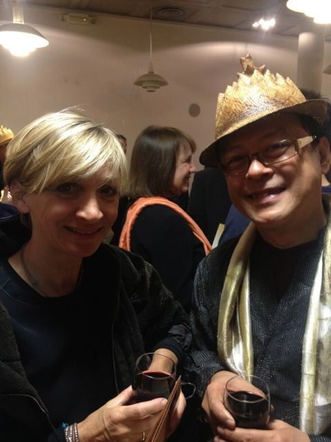 Anna Valentine and Edric Ong together with his Sarakian hat