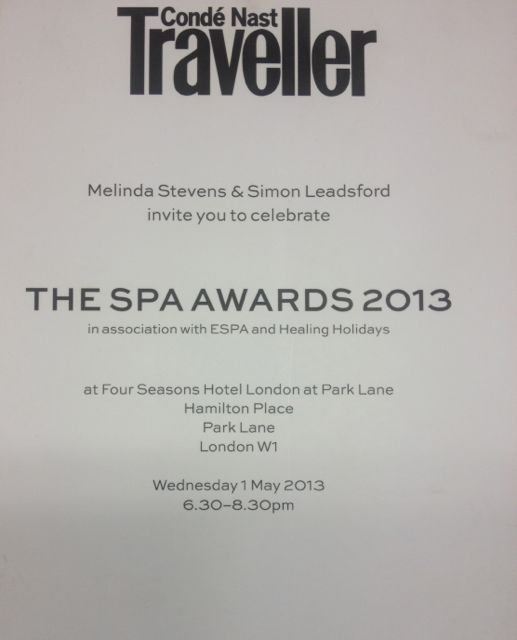 Conde nast traveller spa awards 2013 for Accolades salon reviews