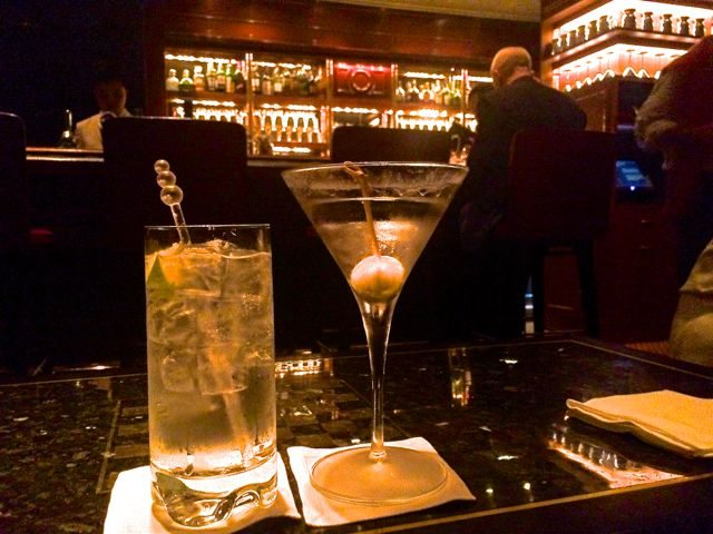 Captain's bar cocktails