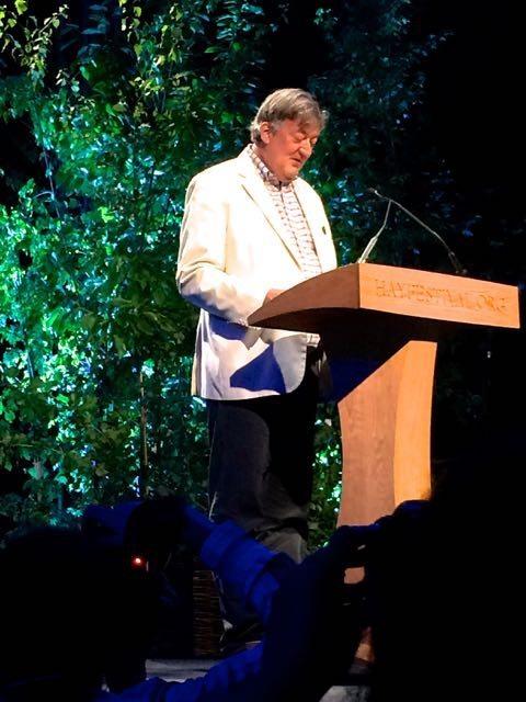 Stephen Fry at Hay