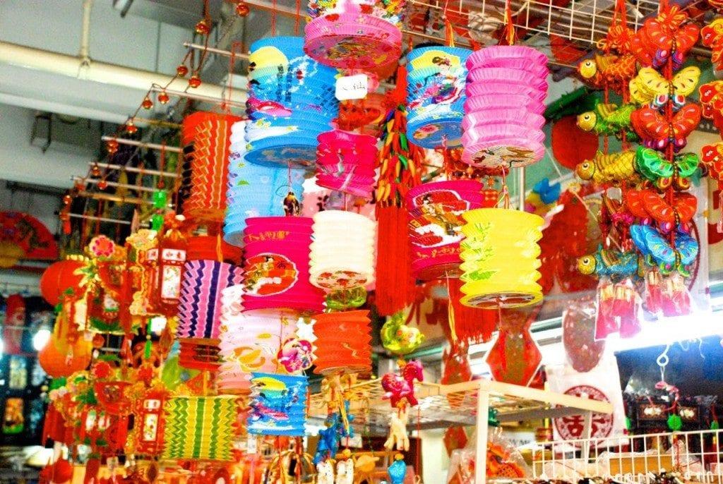 Chinatown lantern stall