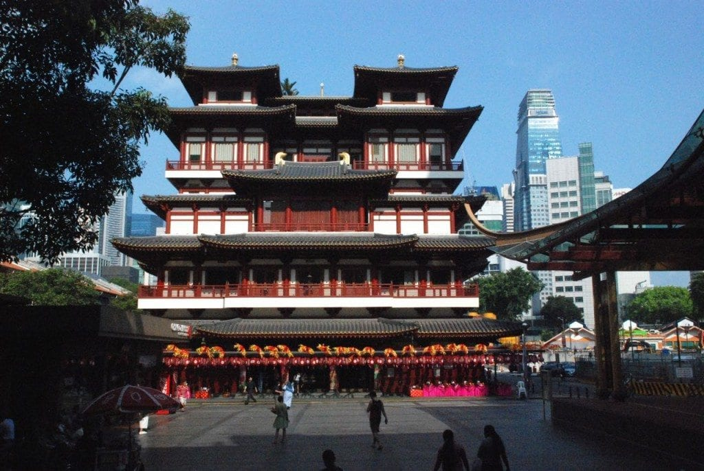 Chinatown temple from front