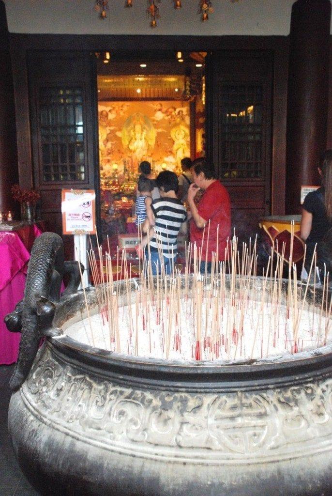 Chinatown temple jossticks