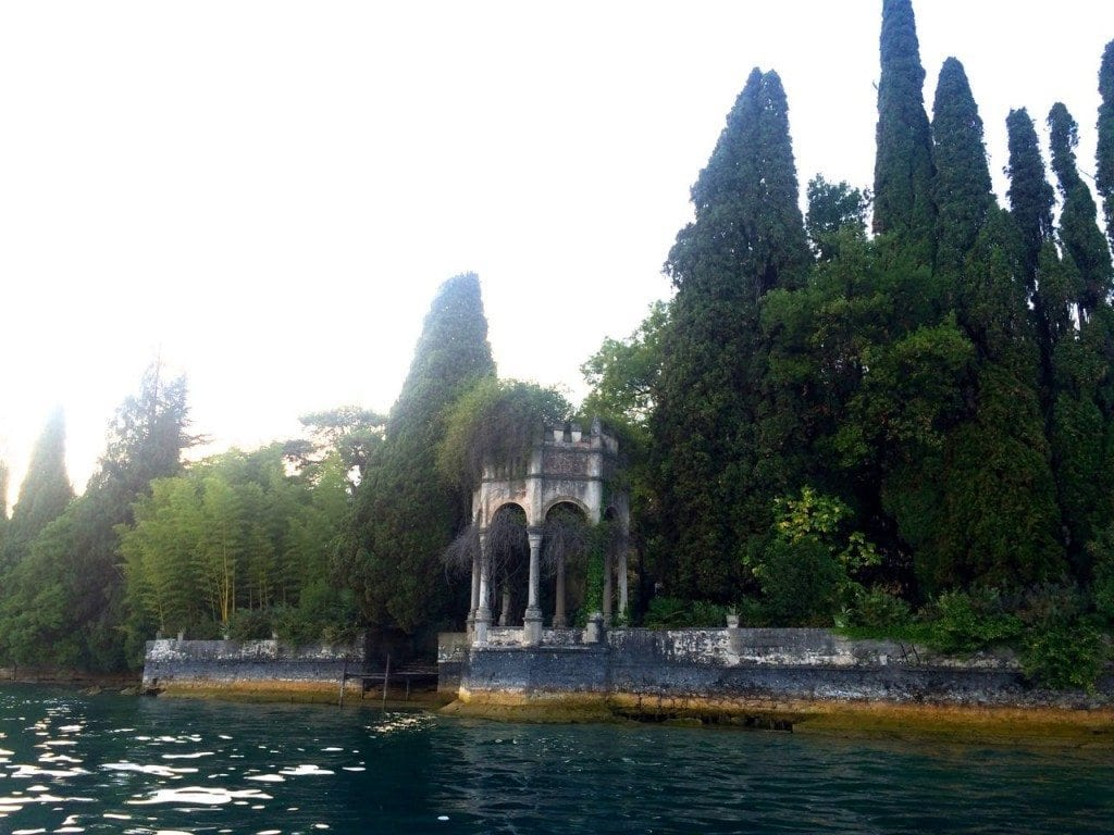 Lefay view from boat - arches