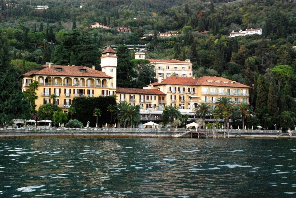 Lefay view from boat - hotel