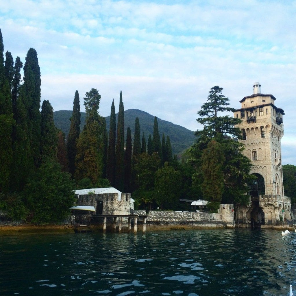 Lefay view from boat - tower