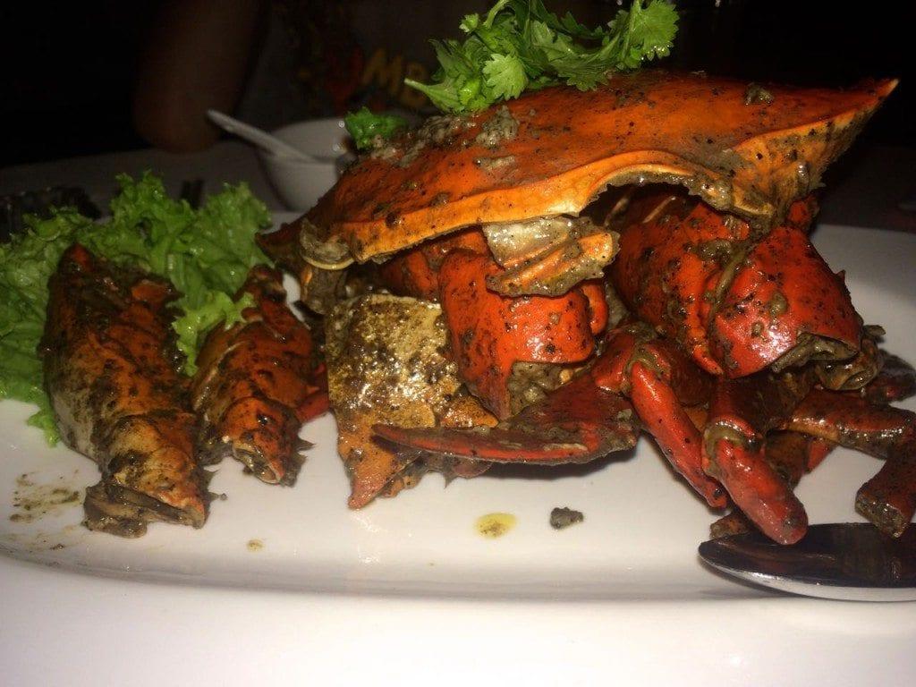 pepper crab at Jumbo