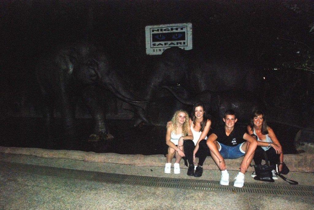 us at night safari with kids:elephants