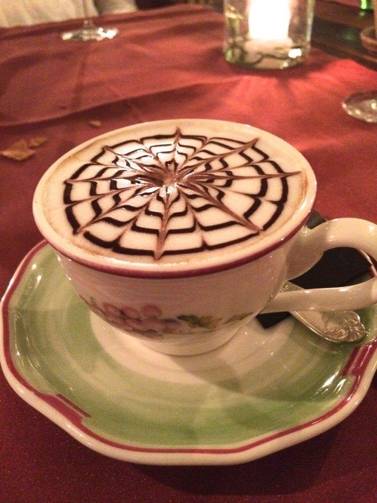 Lefay cappucino in a tea cup