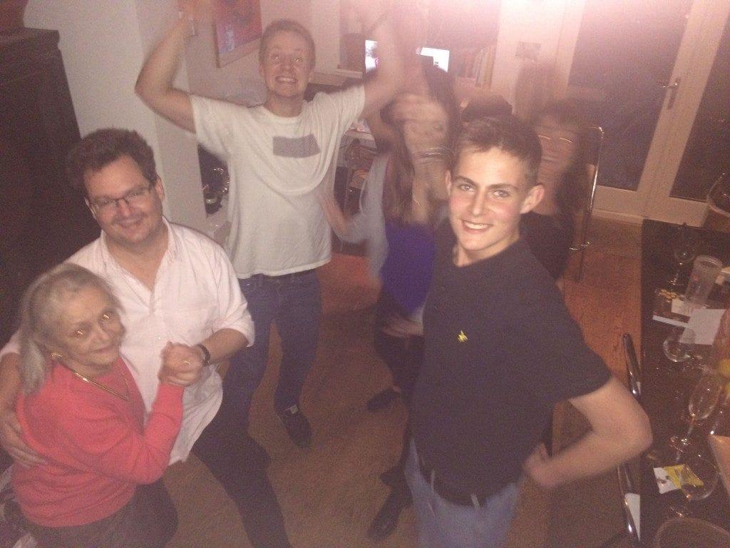 bday kitchen dancing