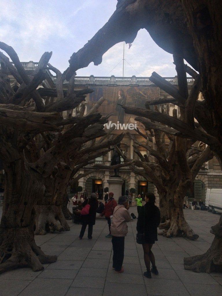 Ai Wei Wei outside