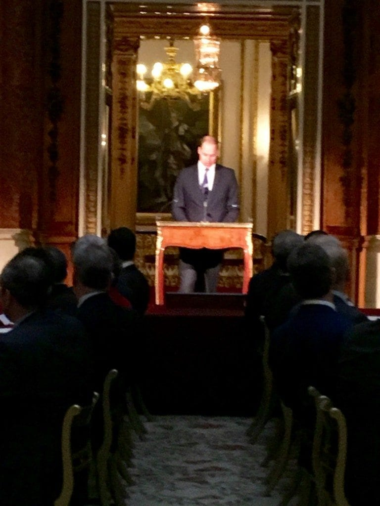 Duke of Cambridge speaking