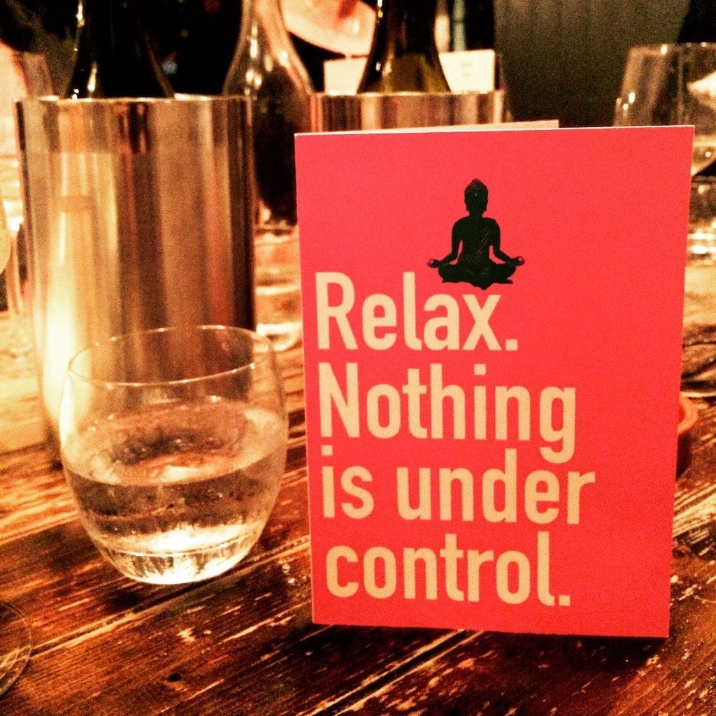 Relax, nothing is under control