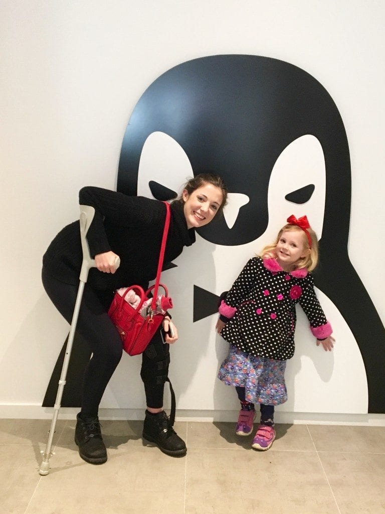 The girls and the penguin