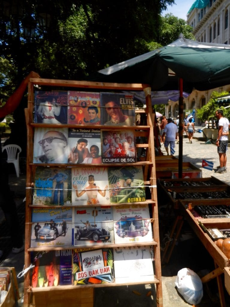 Cuba, records on sale