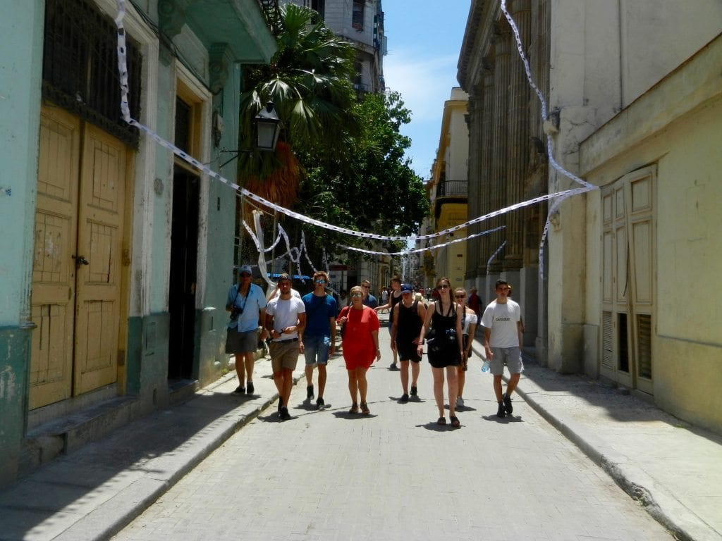 Cuba, the team walking