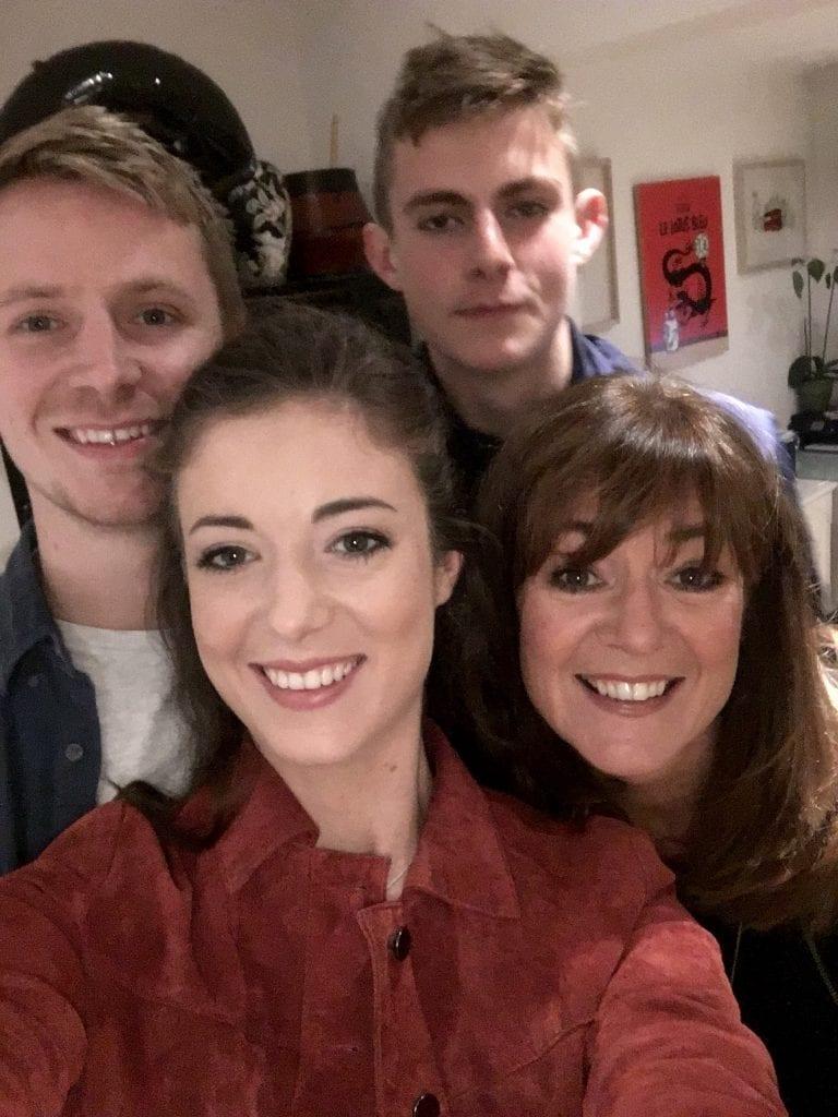 Birthday family selfie