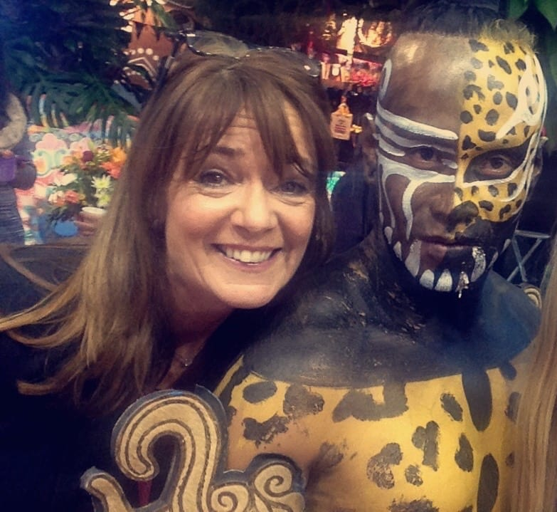 Me and leopard man