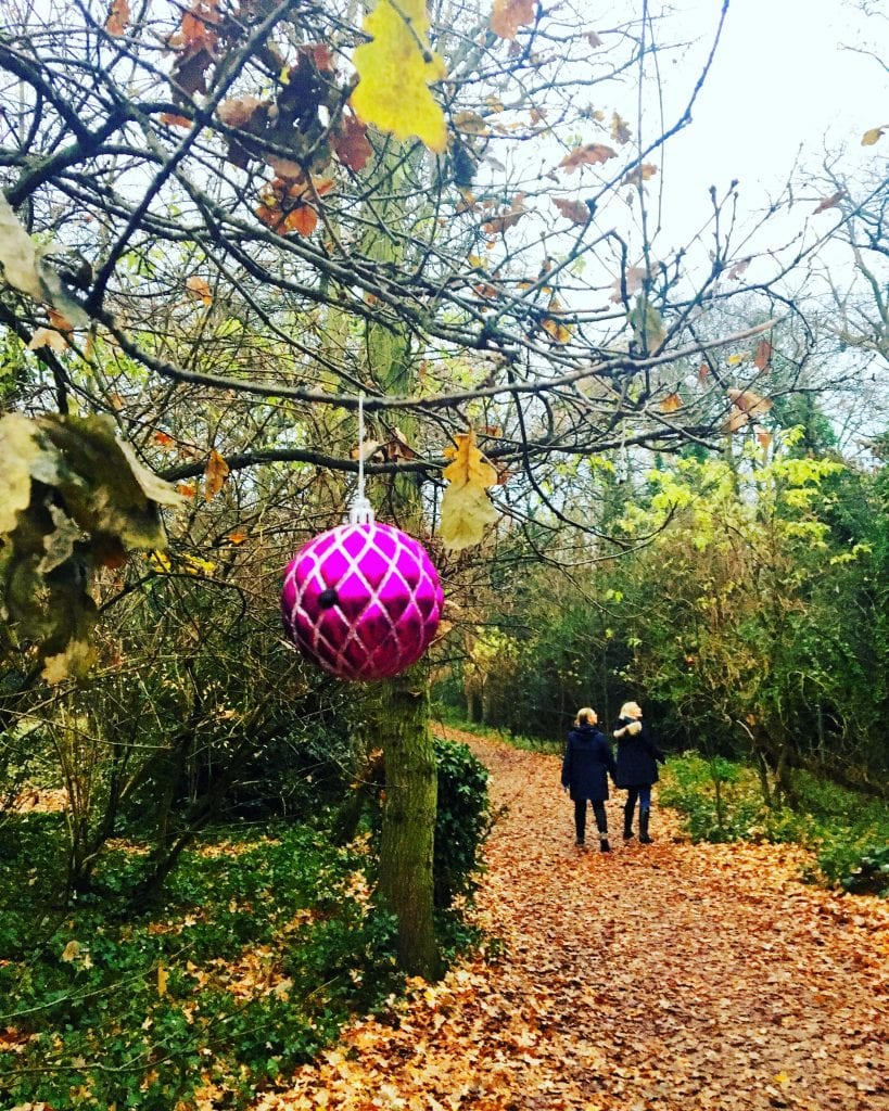 Christmas bauble walk