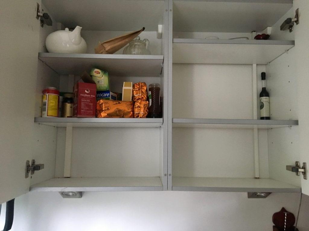 Empty cupboards