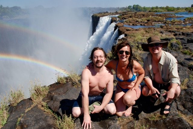 The double rainbow at The Victoria Falls