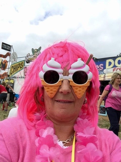 Glastonbury outfits - pink lady