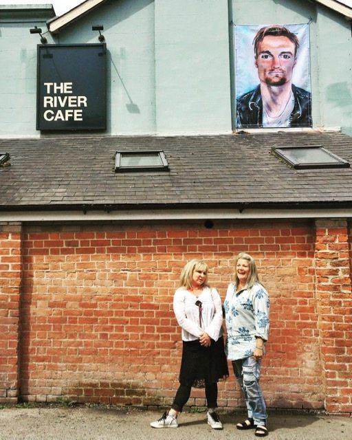 Janet Lance Hughes and Helen Lederer at River Cafe