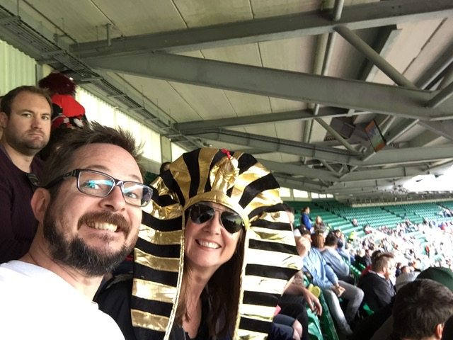 London rugby 7's - me in headdress