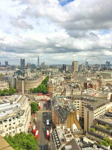 Rooftop view of London