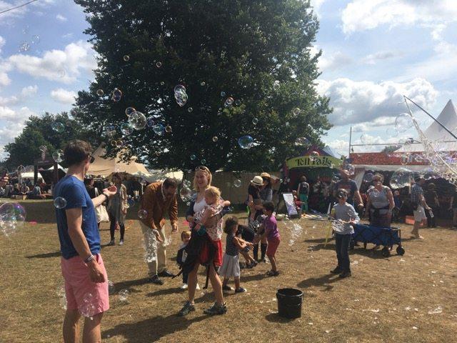 Wilderness Festival: Bubbles