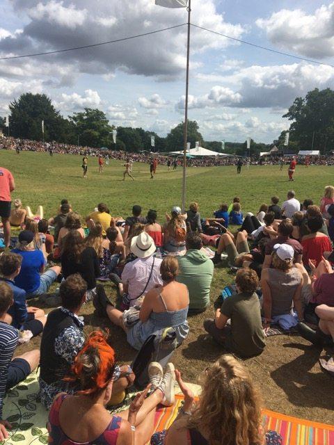 Wilderness Festival: Streaker at the cricket