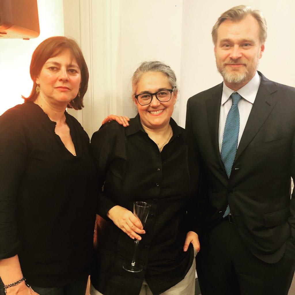 Royal Academy Tacita Dean, Antigone Dean and Christopher Nolan
